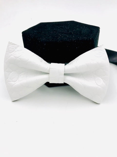 Jean Lorent Hand-Crafted Full-Grain Leather Bow Tie