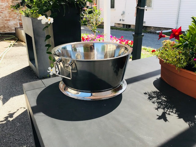 "17"" Diameter Double Walled Stainless Steel Beverage/Ice Tub"