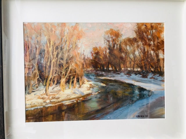 "Kyle Park: ""Frozen River"" Oil Painting"