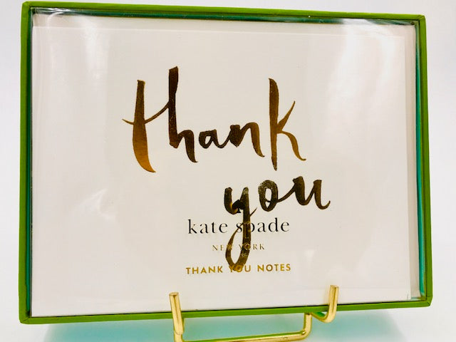 Kate Spade Gold Thank You Note Card Set-