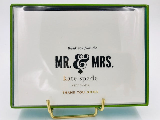 "Kate Spade ""Mr & Mrs. Thank You"" Note Card Set-"