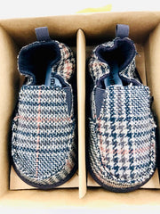 "Me in Mind ""Cruiser"" Slip-On Brown Plaid Baby Shoes"