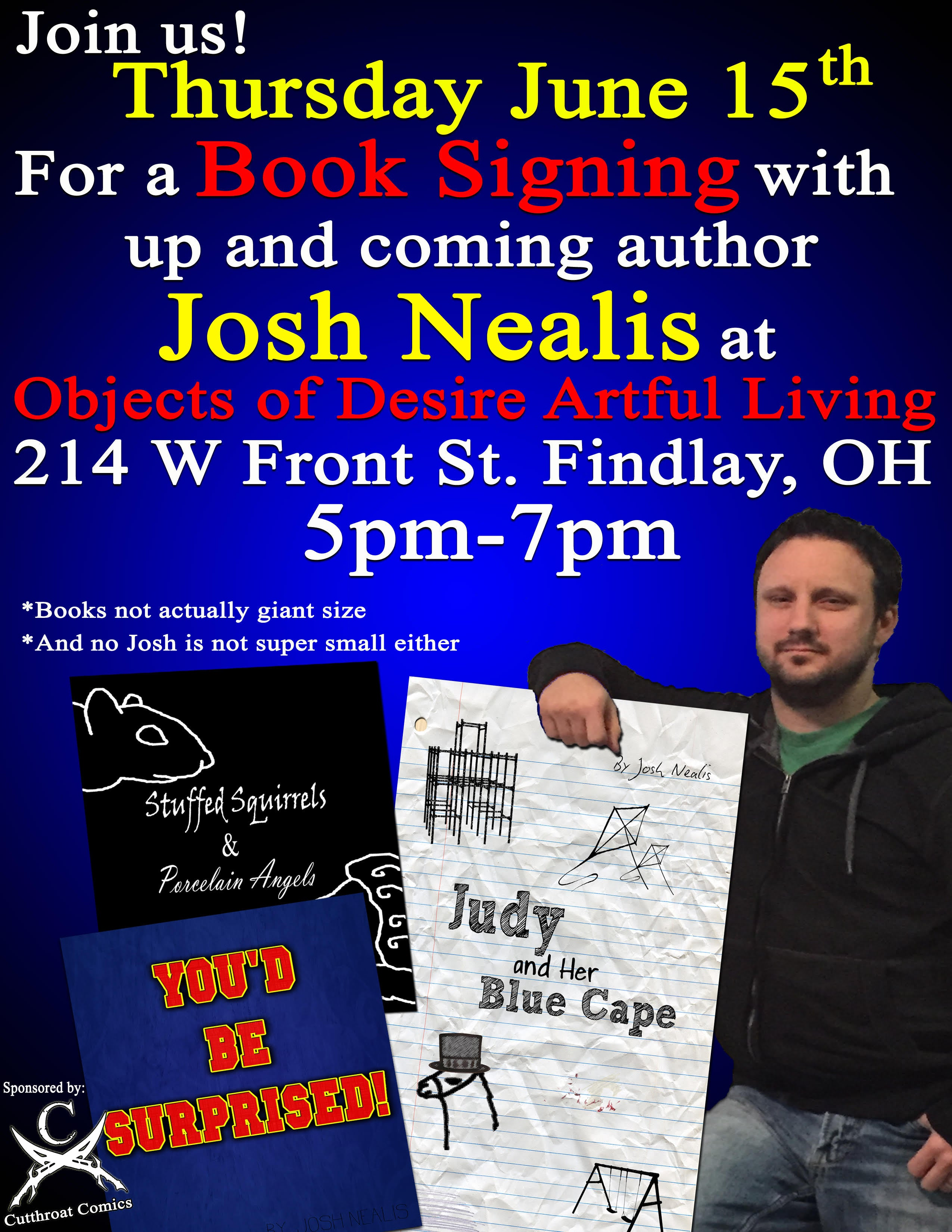 June 15 Meet the Artist and Book Signing (Free) Event: Josh Nealis (author)