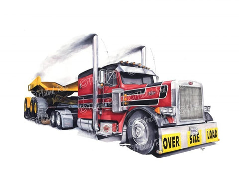"Local Artist of the Week: Ashley Donaldson (Flatbed Red)-""Oversize"" Print"