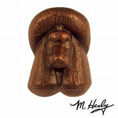 Michael Healy Door Knocker: Oiled Bronze Cast Aluminum Dog Knocker (Poodle)