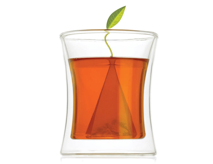"Tea Forte ""Poom"" Double-Sided Insulated Glass Tea Cup"