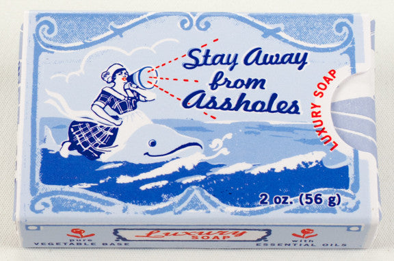 "BlueQ Luxury Bar Soap: ""Stay Away From Assholes"""