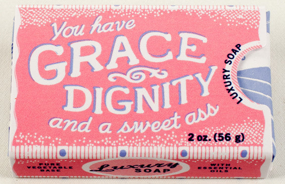 "BlueQ Luxury Bar Soap: ""You Have Grace and Dignity and a sweet ass"""