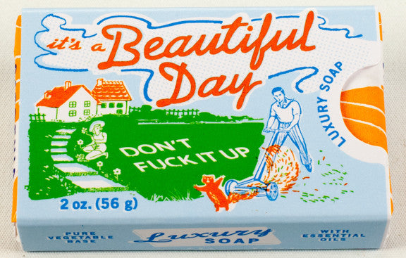 "BlueQ Luxury Bar Soap: ""It's A Beautiful Day"""