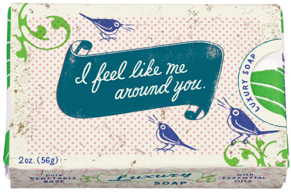 "BlueQ Luxury Bar Soap: ""I feel like me around you"""