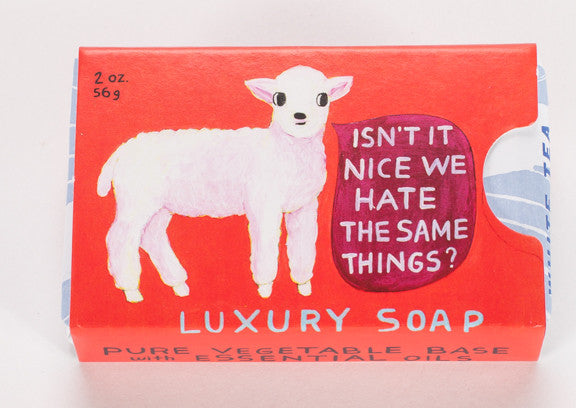"BlueQ Luxury Bar Soap: ""Hate the Same Things"""