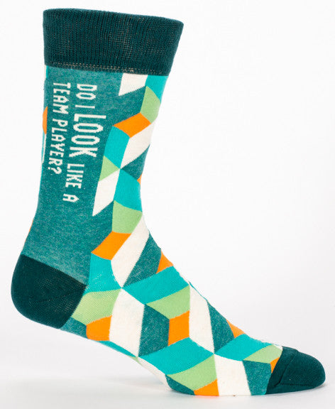 BlueQ Men's Crew Socks: Do I Look Like A Team Player?