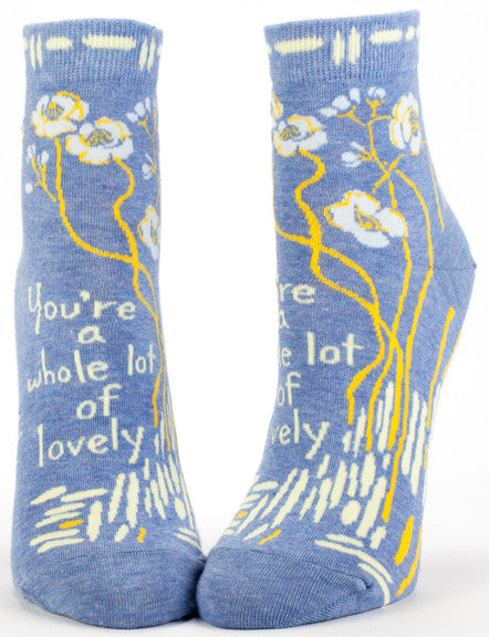 "BlueQ Women's Ankle Socks ""You're A Whole Lot of Lovely"""