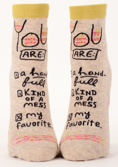 "BlueQ Women's Ankle Socks ""You Are My Favorite"""