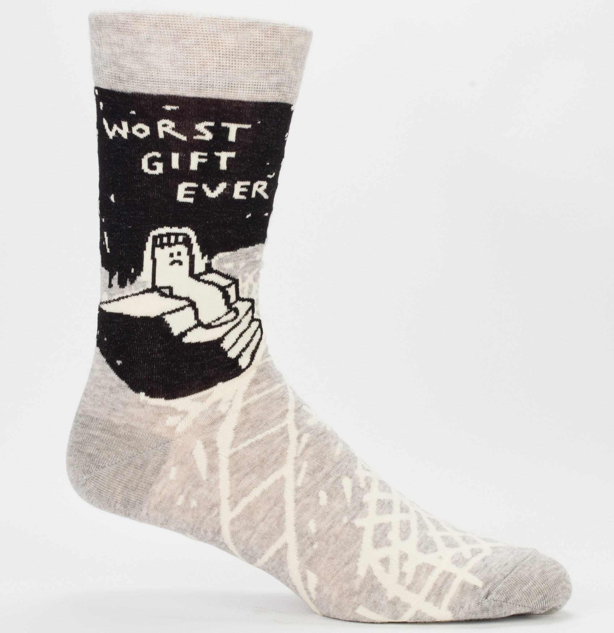 "BlueQ Men's Crew Socks ""Worst Gift Ever"""