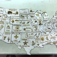 Wooden Map of the States Puzzle