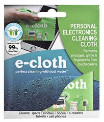 The super-soft microfiber Personal Electronics Cleaning Cloth gives a perfect smear-free finish to all displays and screens. The cloths have 3.1 million fibers per square inch, helping them hold grease, dirt, and bacteria that normal clothes leave behind. They can be washed 300 times and rinsed as often as you like.