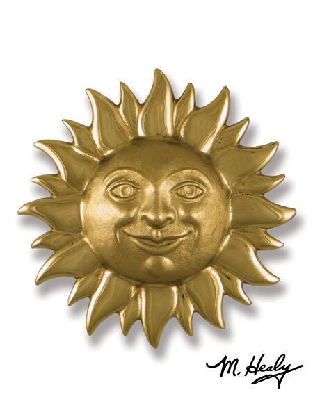 Michael Healy Door Knocker: Smiling Sun Face
