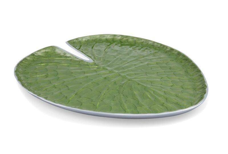 "Julia Knight 10"" Lily Pad Platter in Mohito"