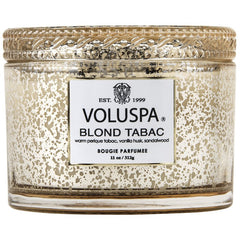 Voluspa Boxed Blond Tabac Scented Candle w/Lid