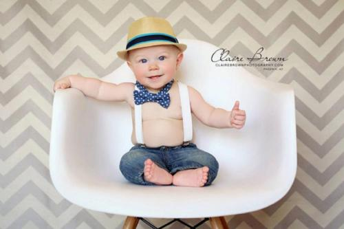 Baby Boy Bow Tie Suspenders Set