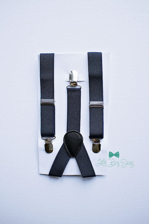 Navy Suspenders For Boys To Men
