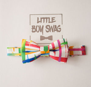 Boys Birthday Bow Tie And Leather Suspenders