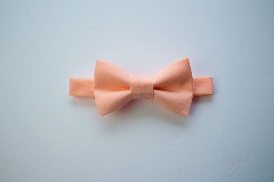 Peach Bow Tie For Boys To Men