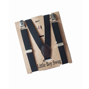 Black Suspenders - Newborn to Adult sizes