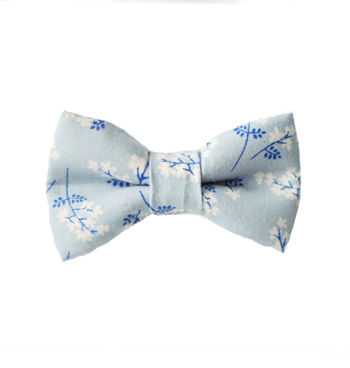 Dusty Blue Floral Bow Tie - Newborn to Adult sizes