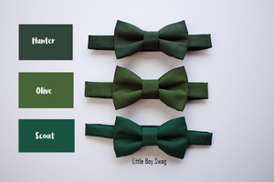 Hunter Olive Scout Green Bow Tie