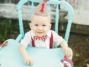 Boys Birthday Outfit, Red Checkered Bow tie with Red Suspenders, Boys Bow Tie, Boys Suspenders, Boys 1st Birthday, Boys Cake Smash Outfit