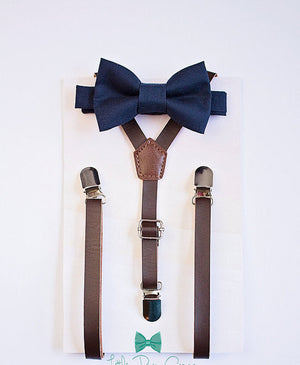 Boys Mens Navy Bow Tie, Ring Bearer Outfit, Navy Wedding Bow Tie, Boys Suits, First Birthday Boy, Ring Bearer Bow Tie, Wedding Bow Tie, Gift
