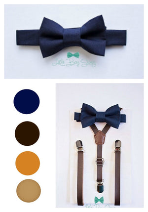 Boys Rustic Wedding Bow Tie And Suspenders, Ring Bearer Outfit, Country Wedding Bow Tie, Baby Boy Bow Tie, Toddler Bow Tie, Boys Suspenders