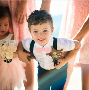 Ring Bearer Outfit, Navy Suspenders Dusty Rose Blush, First Birthday Outfit Boy, Boy Bow Tie and Suspenders, Ring Bearer Proposal