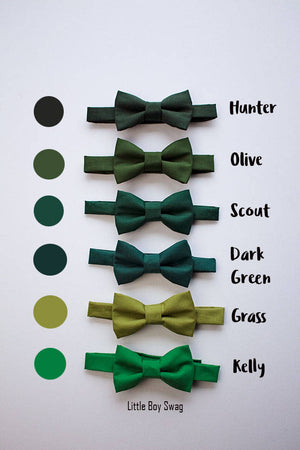 Boys And Adult Bow Tie In Shades Of Green, Ring Bearers Bow Tie, Green Wedding, Boys Formal Wear, Boys Wedding Bow Tie, Boys Cake Smash