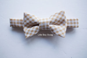 Beige Tan Boys Bow Tie For Boys To Men, Ring Bearers Bow Tie, Boys Formal Wear, First Birthday Boy, Boys Cake Smash Bow Tie, Kids Bow Tie