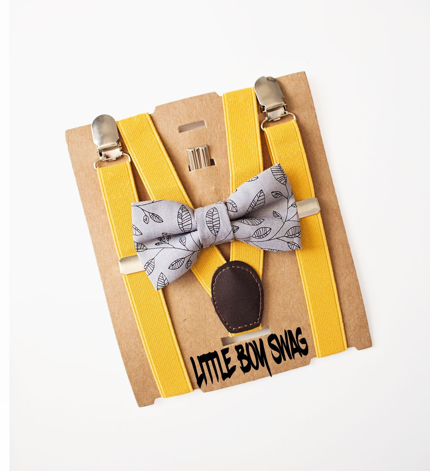 Mustard floral bow Gray floral bow Newborn and toddler bow.