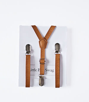 Ring Bearer Gift- Rustic Skinny Leather Suspenders, Personalized Proposal Gift, Will you be my Ring Bearer, My Page Boy, Ring Security,