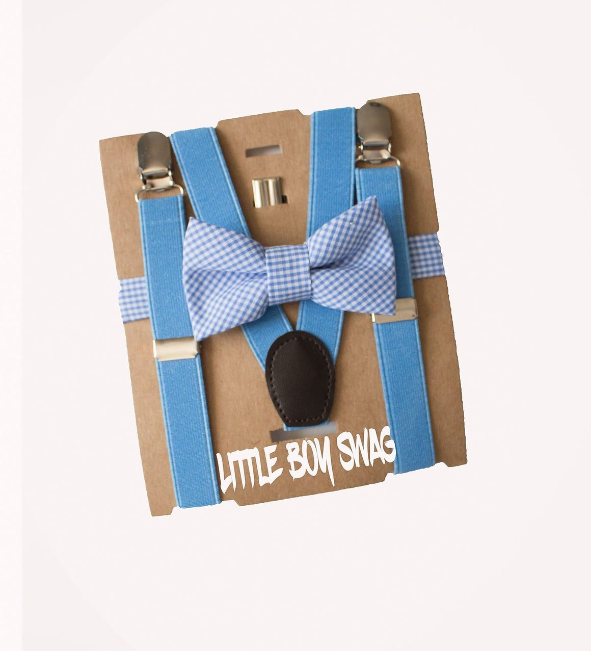 Baby Blue Bow Tie & Suspender for Wedding Outfits, Ring Bearer, Boys Birthday Outfit, Baby Shower Gift, Easter, New Mom Gift