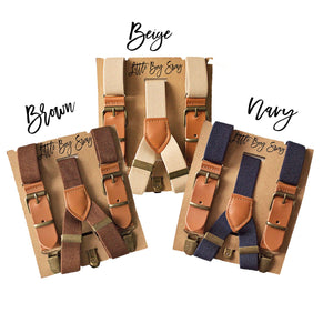 Rustic Leather Suspenders for Ring Bearer/Page Boy Outfit, 1st Birthday Outfit, Cake Smash Outfit Boy, Caramel Boy Braces, Alter Boy Outfit
