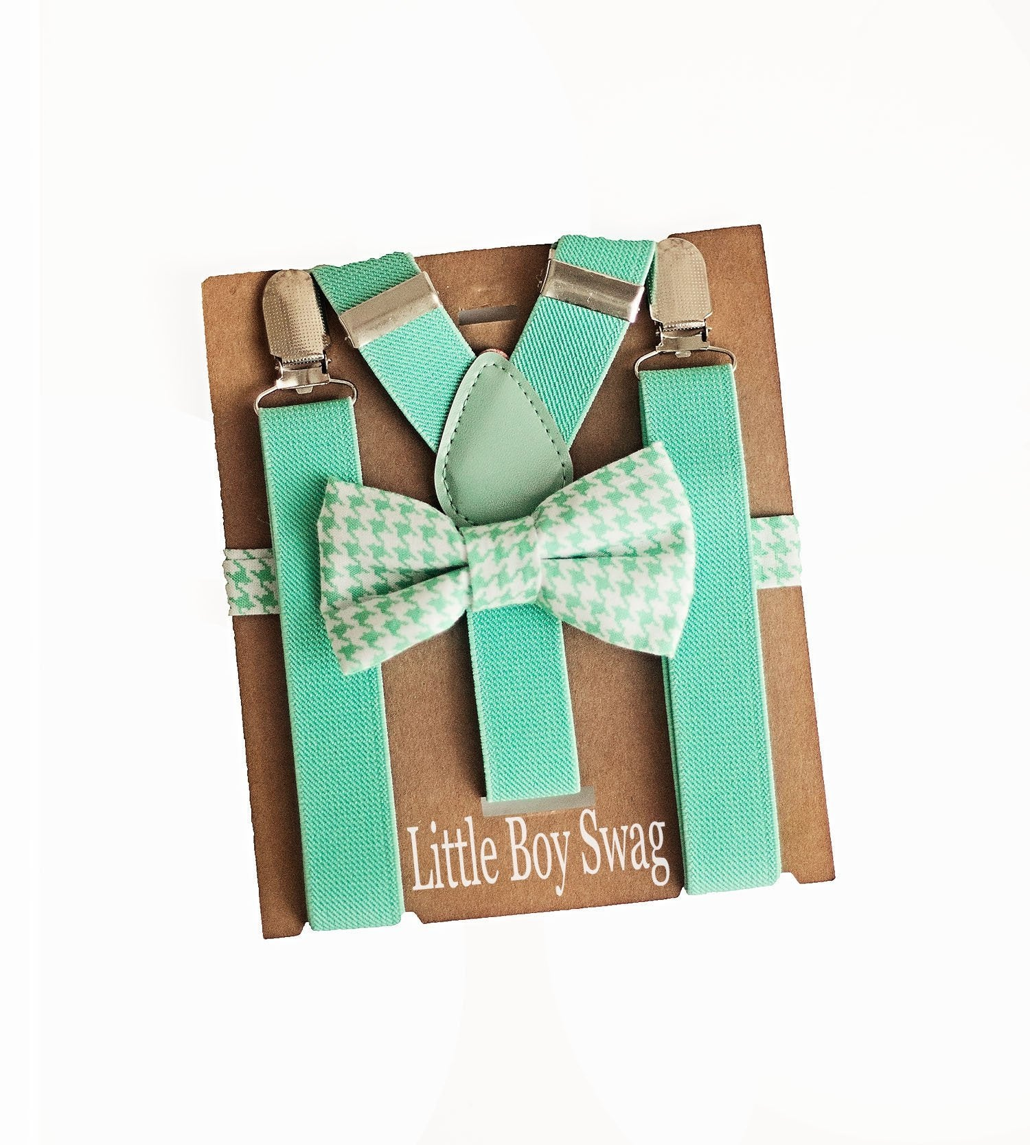 Turquoise/Mint Bow Tie & Suspenders for Cake Smash Outfit, Boy 1st  Birthday, Baby Shower Gift for Boys,Beach Wedding Outfit Kids,Ring Bearer