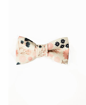 Blush Navy Floral Bow Tie for Ring Bearer/Page Boy, Wedding, Father's Day Gift, Father Son Matching Bow Ties, Baby Shower Gift for Boys