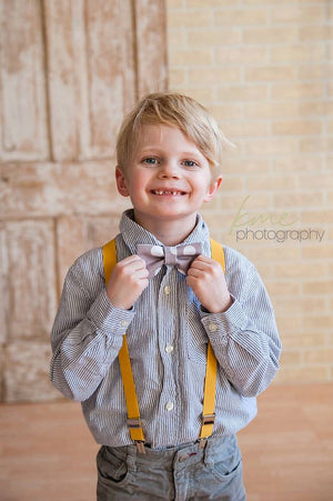 Boys Grey Bow Tie Toddler Suspender For Easter, Cake Smash Outfit Boys, Ring Bearer Outfit, First Birthday, Boys Baby Shower Gift