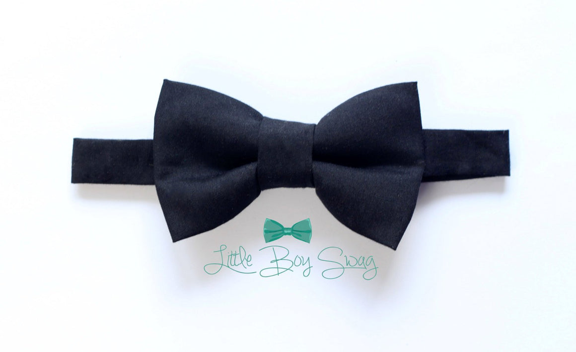 Black Bow Tie for Boy to Men, Wedding Bow Tie, Boys Formal Wear, Ring Bearer Outfit, Baby Boy Bow Tie, Boys Clothes, Boys Suits, Toddler Bow