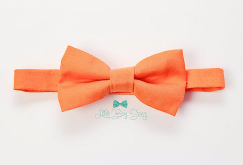 Orange Bow Tie..Baby Clothing..Ringbear Bowtie..Boy Formal Wear..1st Birthday..Ring Bearer..Wedding..Kids Bow Tie.. gift.Baby Boy Photo Prop