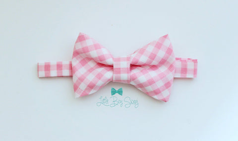 Boys PInk Bow Tie..Baby Boy Bow..Cake Smash Bow Tie..Ring Bearer Clothes..Baby Shower Gift..Boy First Birthday Outfit..Boy Photography Prop