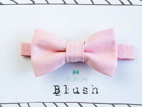 Baby Boy Blush Bow Tie for all ages- Newborn -Adult..Toddler..Suspenders..1st Birthday..Ring Bearer..Wedding..Kids Bow Tie..Best Man gift