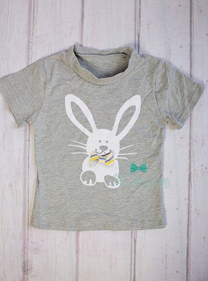 Boys Easter Tshirt, Boys Clothes, Bunny Tshirt, Kids Clothes, Easter Gift, Easter Outfit, Boy T-shirt, Boys Birthday Gift, Boys Tops