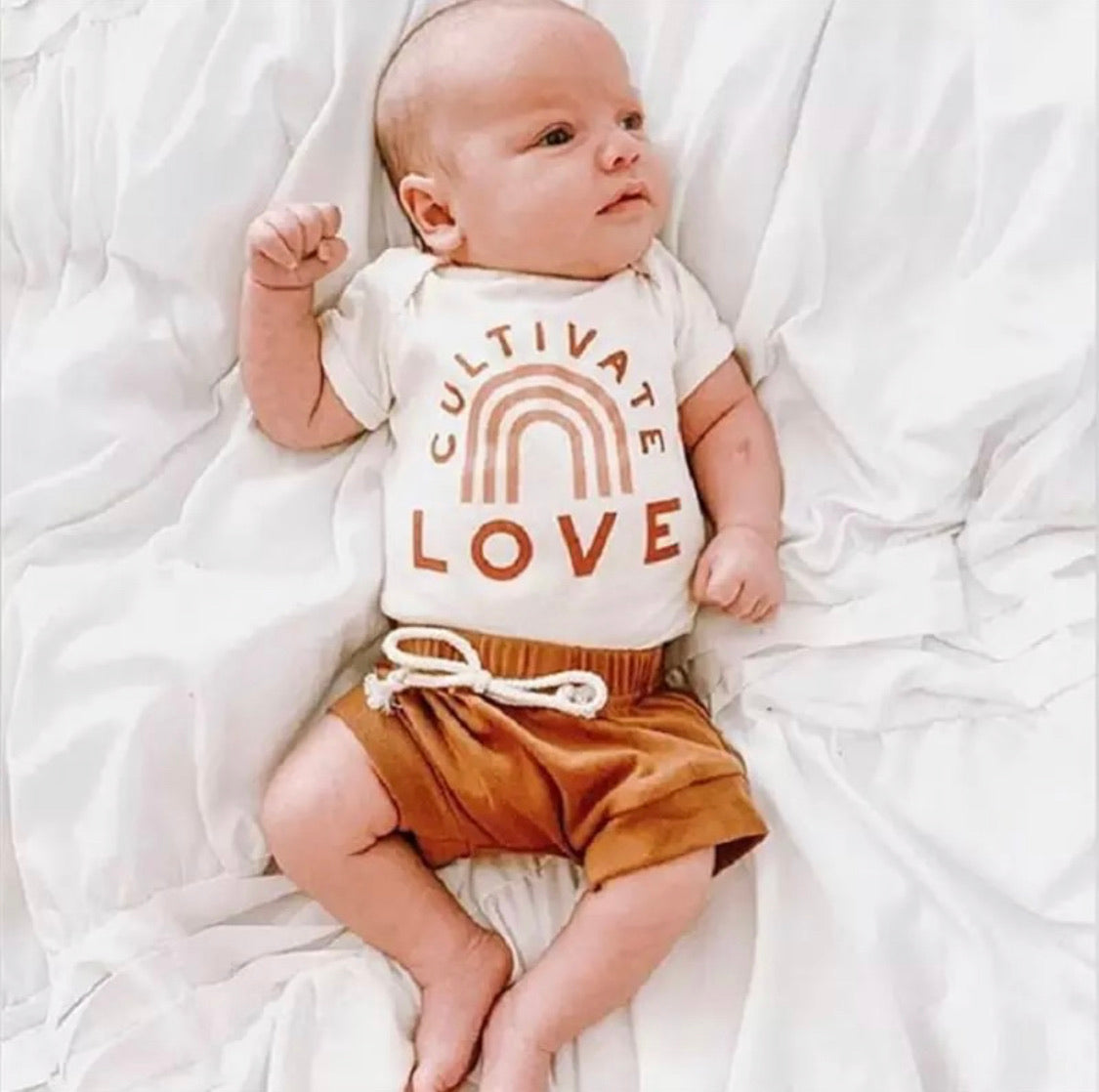 Baby boy bodysuit and shorts- Cultivate Love
